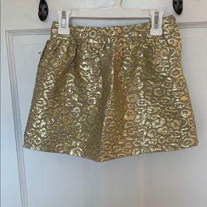 Girls metallic jacquard skirt